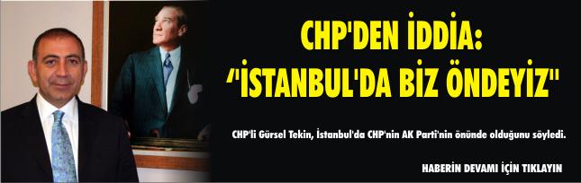 CHP'den iddia: ''İstanbul'da biz öndeyiz''