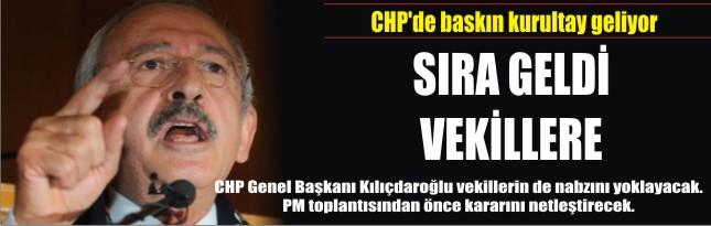 CHP'de baskın kurultay geliyor