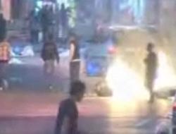 İzinsiz gösteriye polis müdahale etti