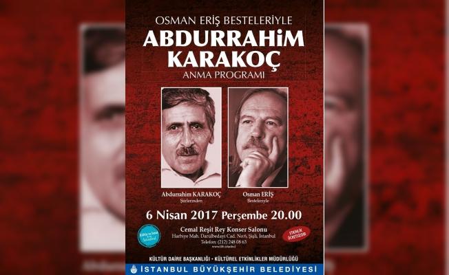 İBB'den Osman Eriş'in besteleriyle Abdurrahim Karakoç'a anma konseri