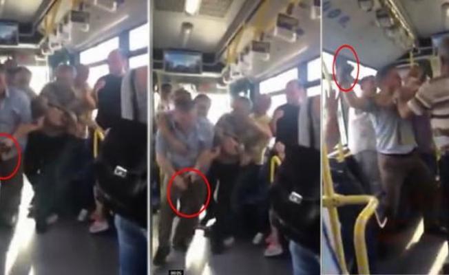 Metrobüste korku dolu anlar... Silahını çekti!