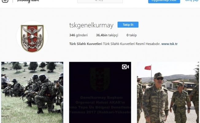 TSK Instagram'da hesap açtı