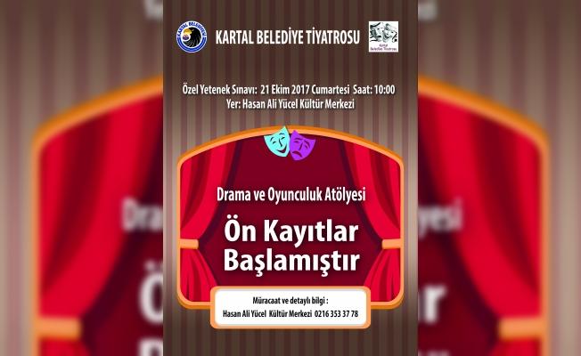 Kartal Belediye Tiyatrosu için ön kayıtlar başladı