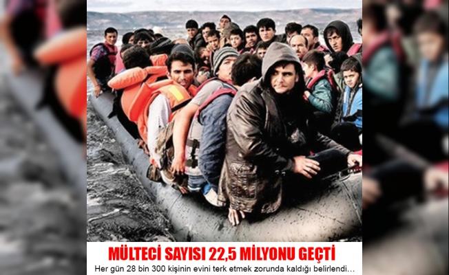 Mülteci Sayısı  22,5 Milyonu Geçti