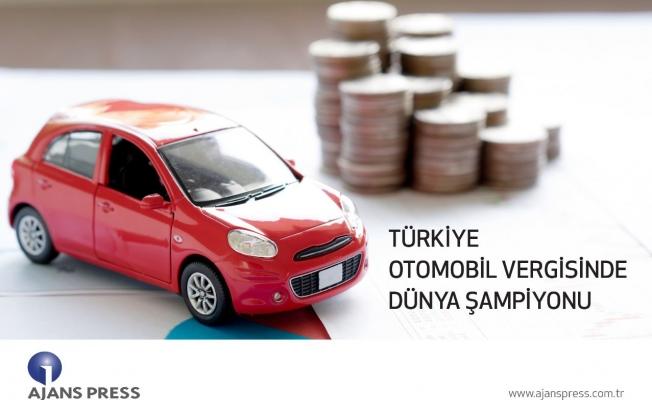 Türkiye otomobil vergisinde dünya şampiyonu