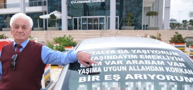 Eşini aracının camına yazdığı ilanla arıyor