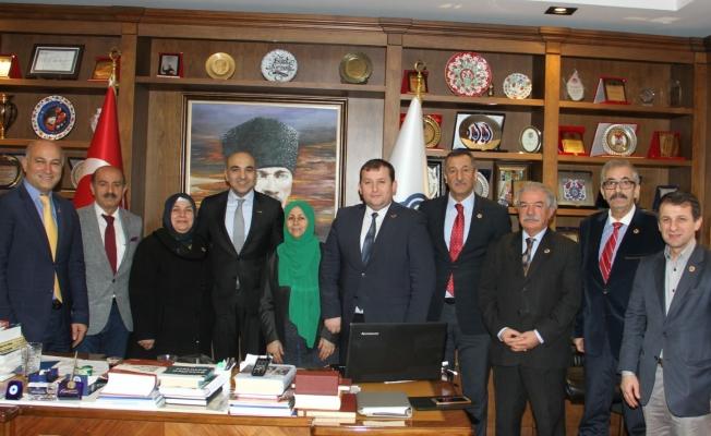 Muhtarlar Federasyonundan Başkan Kerimoğlu'na ziyaret