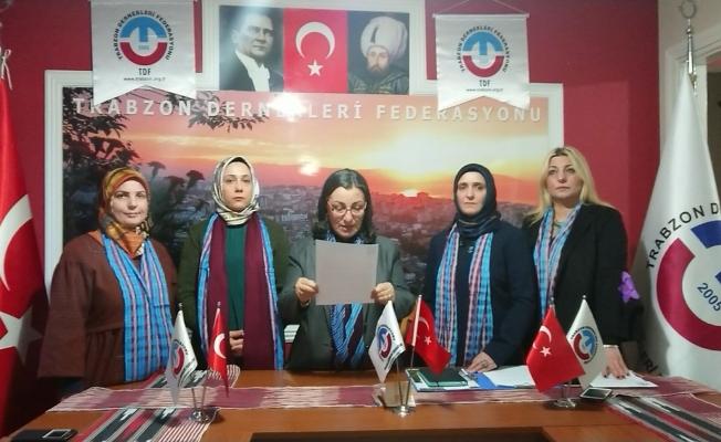 Trabzonlu kadınlar çocuklara cinsel istismarı  protesto etti