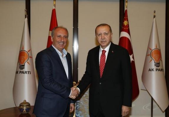 Erdoğan'dan Muharrem ince'ye: Farklı Aday Tarifleri Yapılıyordu, Ama Siz Oldunuz