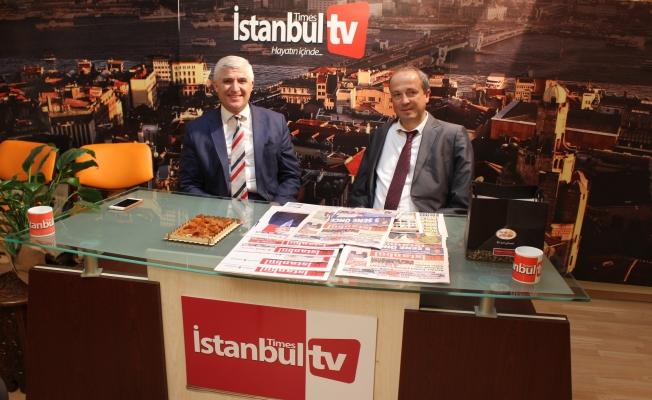 Av.Turan Hançerli, Yayın Grubumuzun Başkanı Çetiner'i Ziyaret Etti