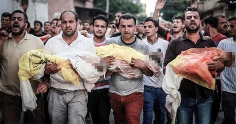 Terör Devleti İsrail'in Katil Sürüsü Askerleri 52 Filistinliyi Şehit Etti