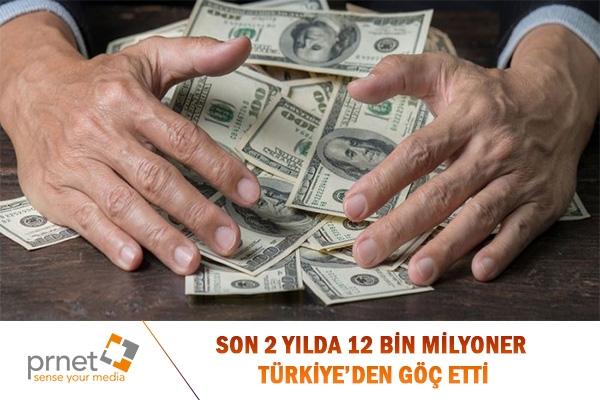 Son 2 Yılda 12 Bin Milyoner Türkiye'den Göç Etti