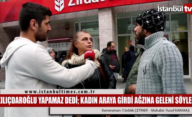 Türkiye bu kadını konuşuyor: 'Kılıçdaroğlu yapamaz' deyince araya girdi, açtı ağzını yumdu gözünü