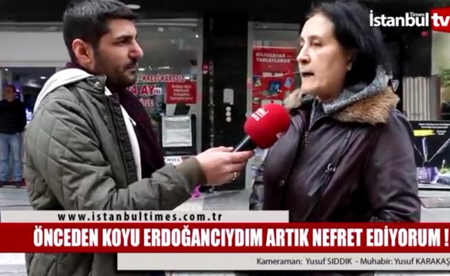 Erdoğan'a seçmenden tepki!