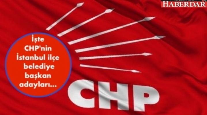 İşte CHP'nin İstanbul ilçe belediye başkan adayları.