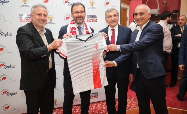"""Bakan Kasapoğlu: """"Beykoz'daki spor kulüplerine önümüzdeki hafta 20'şer bin lira destek vereceğiz"""""""