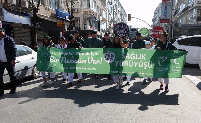 Güngören Yeşilay Şubesinden sağlık yürüyüşü