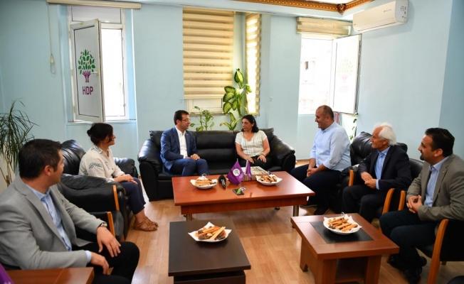 İmamoğlu HDP İstanbul İl Başkanlığı'nı ziyaret etti
