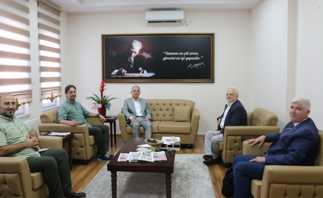 Basın mensuplarından Başakşehir Kaymakamına ziyaret