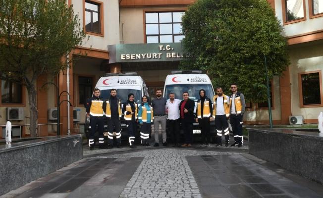 Esenyurt Belediyesi'nin Ambulansları 7/24 Hizmet Vermeye Başladı
