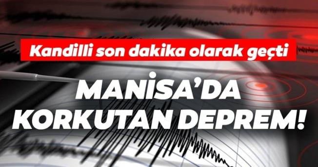 Korkutan Depremin  Merkezi Manisa Kırkağaç