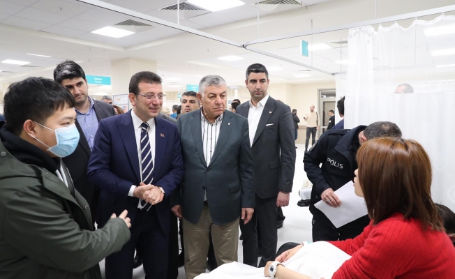 Başkan Gökhan Yüksel ve İBB Başkanı Ekrem İmamoğlu'ndan Uçak Kazasında Yaralanan Vatandaşlara Ziyaret