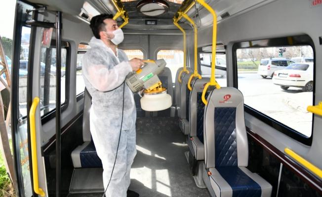 Esenyurt'ta Toplu Taşıma Araçları Virüslere Karşı İlaçlanıyor