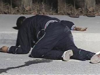 Yol ortasında infaz