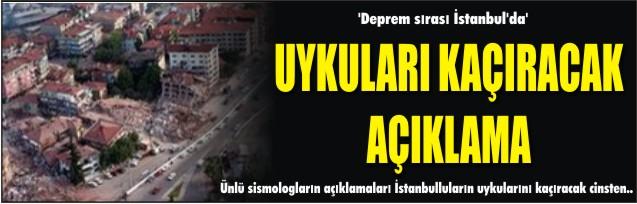 'Deprem sırası İstanbul'da'