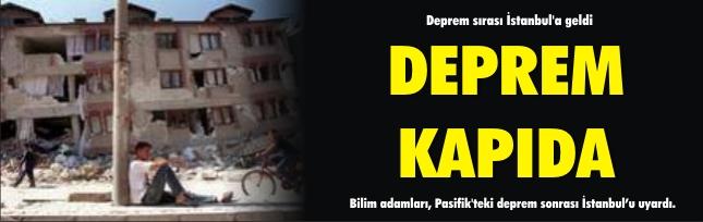 Deprem sırası İstanbul'a geldi