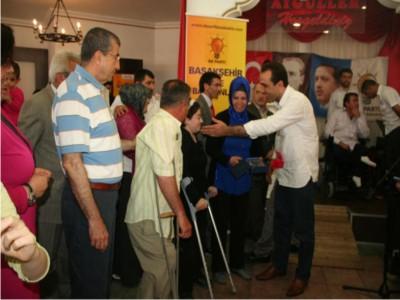 Ak Parti Başakşehir Engelliler Haftasında Engellilerle Birlikte Oldu