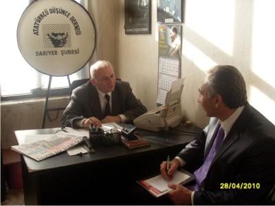 Sarıyer Atatürkçü düşünce (ADD) derneği başkanı ziyareti