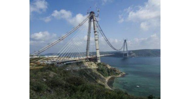 3. Köprü projesinde son 400 metre