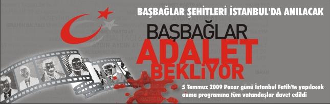 BAŞBAĞLAR ŞEHİTLERİ İSTANBUL'DA ANILACAK