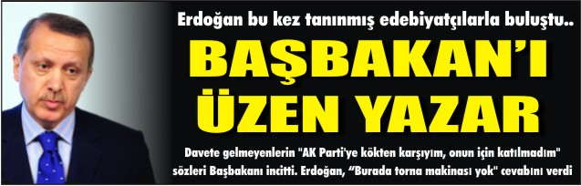 Yazardan Erdoğan'ı inciten söz