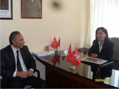Nurettin Koç, Demokrat Parti Sarıyer ilçe Başkanlığını ziyaret etti.
