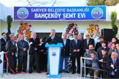 Sarıyer'in İlk Semt Evi Bahçeköy'de Açıldı