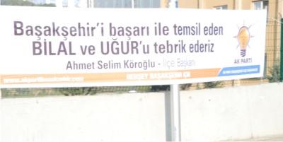 Başakşehir Ak Parti'den Yetenek Sizsizniz'e Pankartlı Tebrik