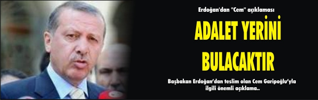Erdoğan'dan ''Cem'' açıklaması