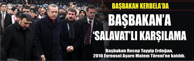 Başbakan'a 'Salavat'lı karşılama