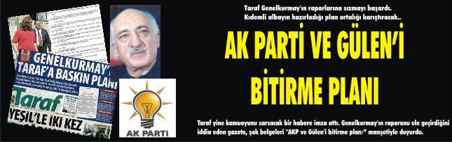 AK Parti ve Gülen'i bitirme planı