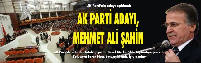 AK Parti'nin adayı açıklandı