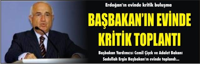 Erdoğan'ın evinde kritik buluşma