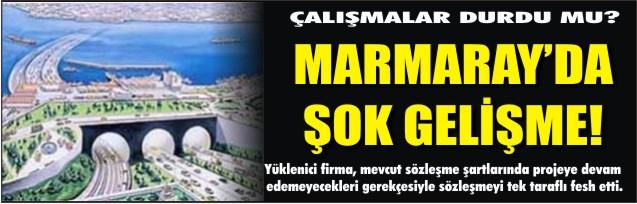 Marmaray'da şok eden gelişme
