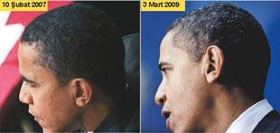 Obama'nın saçlarına aklar düştü