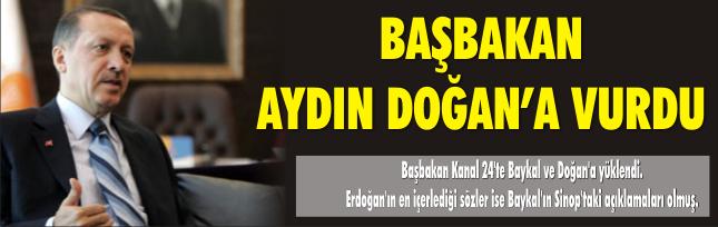 Başbakan Aydın Doğan'a vurdu