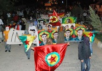 Öldürülen PKK'lıya cenaze töreni !
