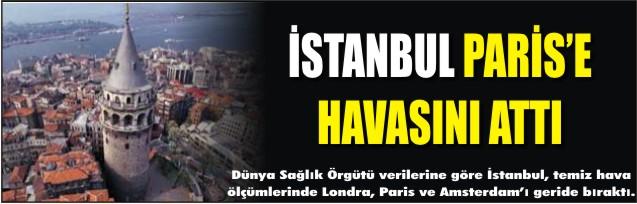 İstanbul Paris'e havasını attı
