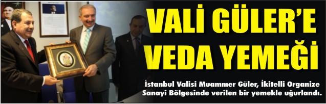 Vali Güler'e veda