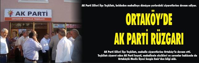 ORTAKÖY'DE AK PARTİ RÜZGARI